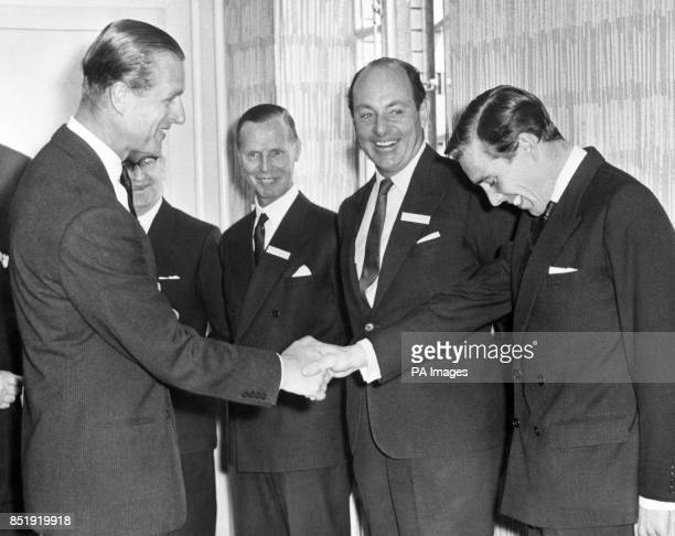 Antony ArmstrongJones is presented to his brotherinlaw Prince Philip the Duke of Edinburgh His Royal Highness presented certificates for the 1961...