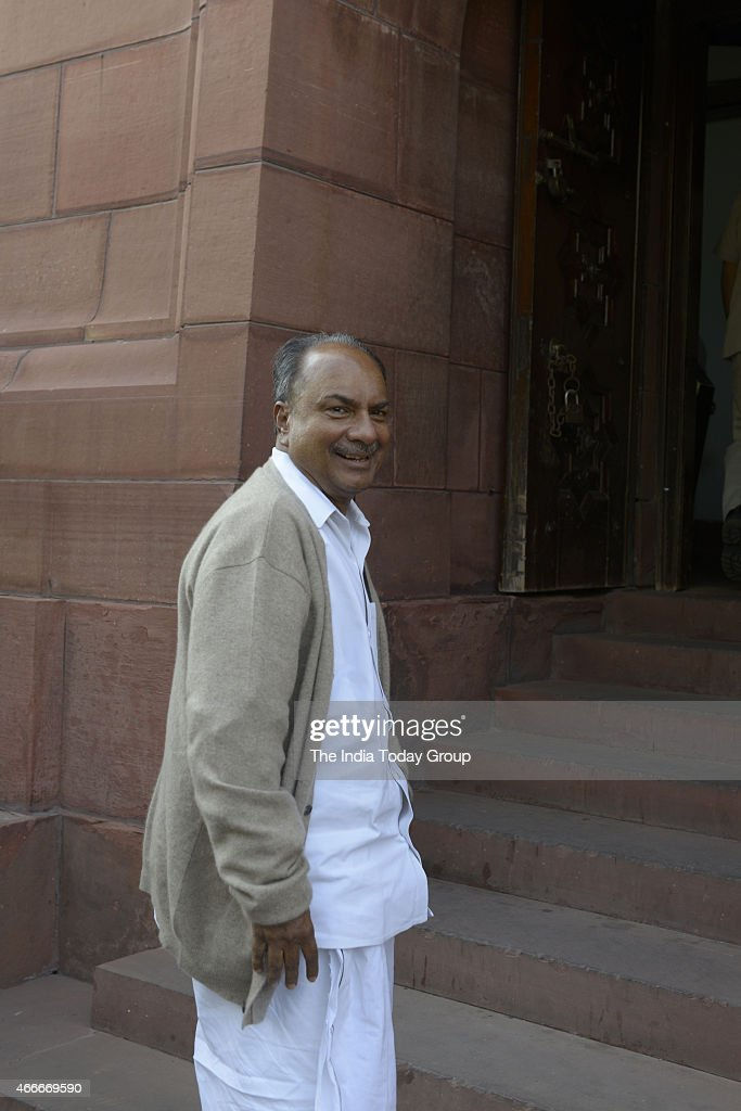 AK Antony at Parliament during Parliament budget Session.