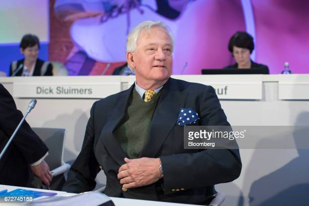 Antony Burgmans chairman of Akzo Nobel NV arrives for a shareholders' meeting in Amsterdam Netherlands on Tuesday April 25 2017 PPG Industries Inc...