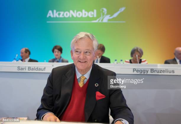 Antony Burgmans chairman of Akzo Nobel NV takes his seat for a shareholder meeting in Amsterdam Netherlands on Friday Sept 8 2017 Akzo Nobel cut its...