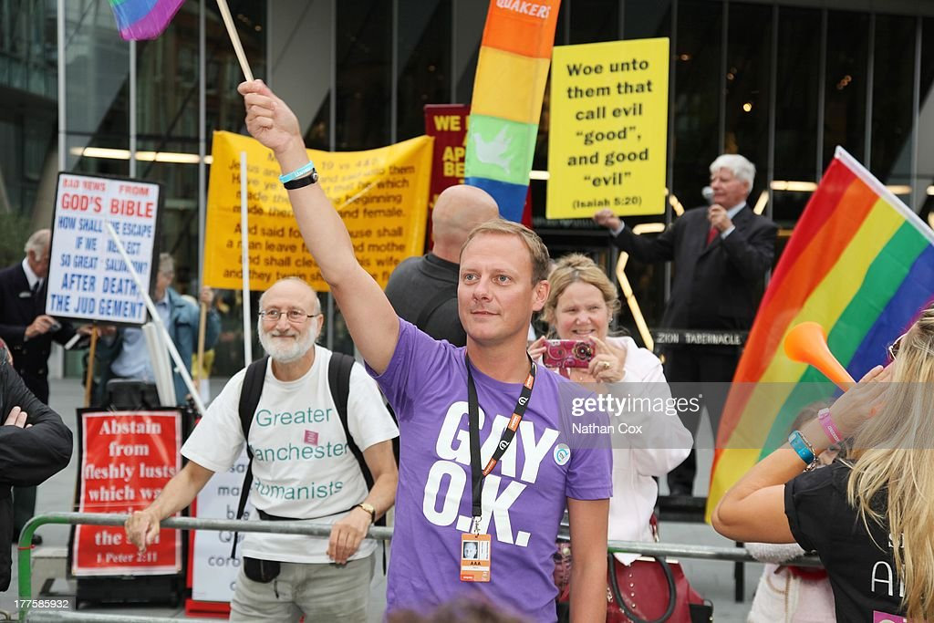 <a gi-track='captionPersonalityLinkClicked' href=/galleries/search?phrase=Antony+Cotton&family=editorial&specificpeople=626694 ng-click='$event.stopPropagation()'>Antony Cotton</a> attends Manchester Pride on August 24, 2013 in Manchester, England.