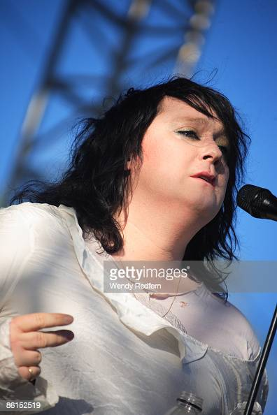 Antony Hegarty of Antony and the Johnsons performs on stage at Coachella Festival 2009 at Empire Polo Field on April 19 2009 in Indio California USA