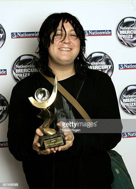 Antony Hegarty of Antony and The Johnsons poses with the award for the album 'I Am A Bird Now' at the annual Nationwide Mercury Prize music awards...