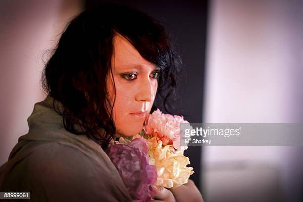 Antony Hegarty of band Antony The Johnsons poses at a portrait session in New York City