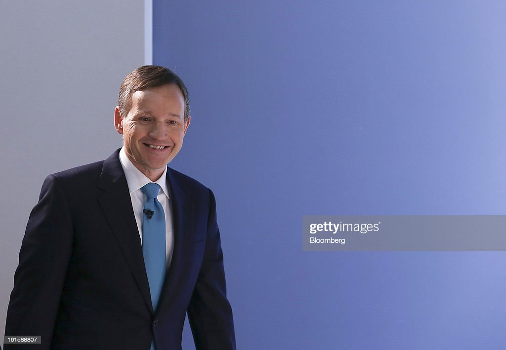 Antony Jenkins, chief executive officer of Barclays Plc, arrives to pose for photographs following the company's Strategic Review at a news conference in London, U.K., on Tuesday, Feb. 12, 2013. Barclays Plc will cut 3,700 jobs to reduce annual costs by 1.7 billion pounds ($2.6 billion) as Jenkins revamps the lender following its fine for interest-rate manipulation. Photographer: Chris Ratcliffe/Bloomberg via Getty Images