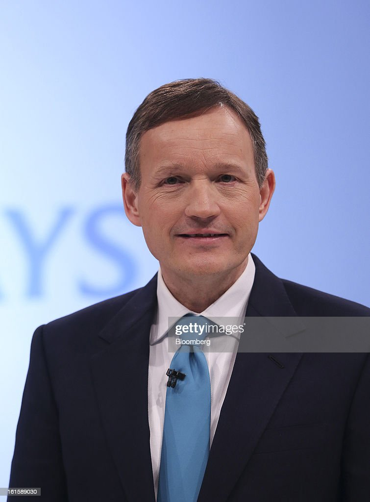 Antony Jenkins, chief executive officer of Barclays Plc, poses for a photograph following the company's Strategic Review at a news conference in London, U.K., on Tuesday, Feb. 12, 2013. Barclays Plc will cut 3,700 jobs to reduce annual costs by 1.7 billion pounds ($2.6 billion) as Jenkins revamps the lender following its fine for interest-rate manipulation. Photographer: Chris Ratcliffe/Bloomberg via Getty Images