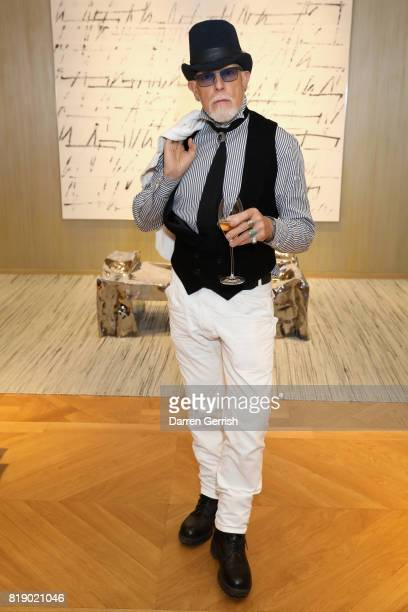 Antony Price attends the Dior cocktail party to celebrate the launch of Dior Catwalk by Alexander Fury on July 19 2017 in London England