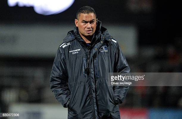 Antrim United Kingdom 23 December 2016 Connacht head coach Pat Lam before the Guinness PRO12 Round 11 match between Ulster and Connacht at the...