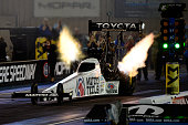 Antron Brown qualifies during day one of the MoPar Mile High Nationals at Bandimere Speedway on July 22 2016