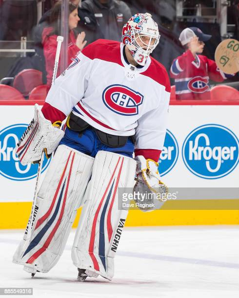 Antti Niemi of the Montreal Canadiens skates in warmups prior to an NHL game against the Detroit Red Wings at Little Caesars Arena on November 30...