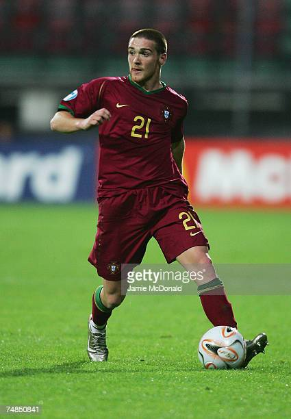 Antunes of Portugal in action during the UEFA European Under21 Championships Olympic Playoff match between Portugal U21 and Italy U21 at the Goffert...