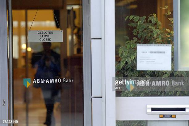 A branch of the Dutch bank ABN Amro in the northern Belgian city of Antwerp is seen closed 12 March 2007 after diamonds were stolen last week in the...