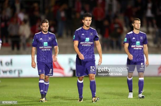 20170728 Antwerp Belgium / Antwerp Fc v Rsc Anderlecht / 'nAlexandru CHIPCIU Leander DENDONCKER Deception'nFootball Jupiler Pro League 2017 2018...