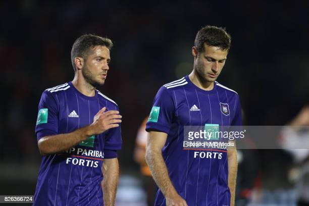 20170728 Antwerp Belgium / Antwerp Fc v Rsc Anderlecht / 'nAlexandru CHIPCIU Uros SPAJIC Deception'nFootball Jupiler Pro League 2017 2018 Matchday 1...