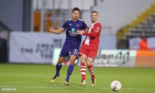 20170728 Antwerp Belgium / Antwerp Fc v Rsc Anderlecht / 'nLeander DENDONCKER Geoffry HAIREMANS 'nFootball Jupiler Pro League 2017 2018 Matchday 1 /...