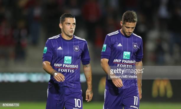20170728 Antwerp Belgium / Antwerp Fc v Rsc Anderlecht / 'nNicolae Claudiu STANCIU Alexandru CHIPCIU Deception'nFootball Jupiler Pro League 2017 2018...