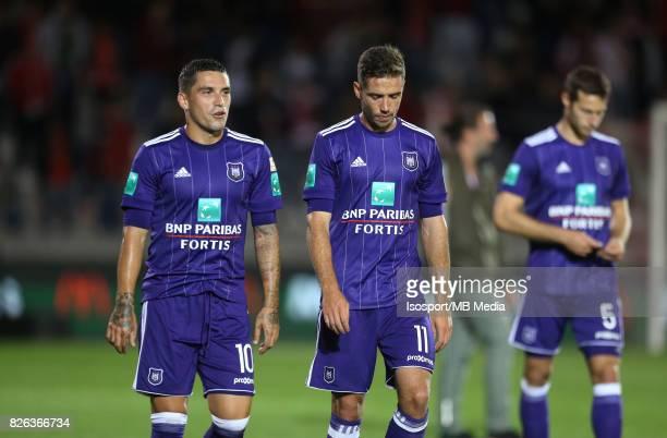 20170728 Antwerp Belgium / Antwerp Fc v Rsc Anderlecht / 'nNicolae STANCIU Alexandru CHIPCIU Deception'nFootball Jupiler Pro League 2017 2018...