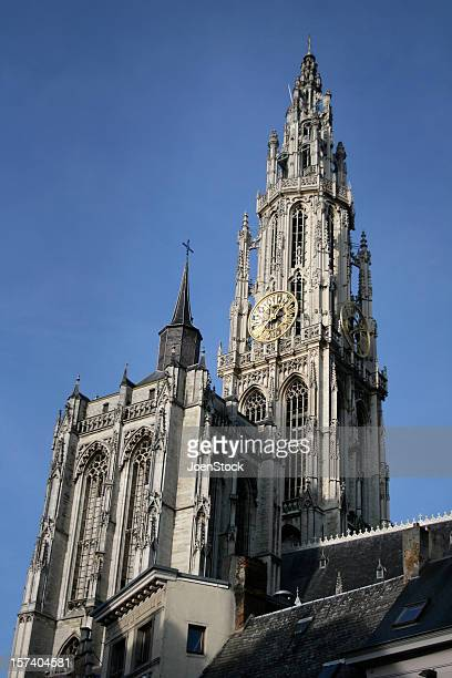 Antwerp Cathedral low angle Belgium