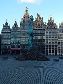 Antwerp City Hall With Fountain
