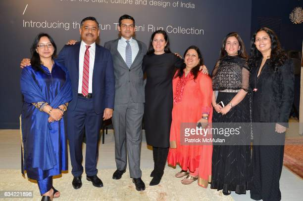 Anu Gupta Gaurav Sharma Rudra Chatterjee Mandy Khera Angelique O'Brien and Guest attend the ABC Carpet Home and Obeetee Celebrate the Launch of the...