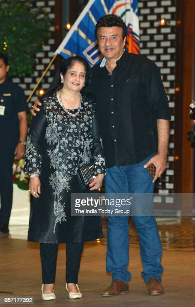 Anu Malik and Anju Malik during the party organised to celebrate Mumbai Indians victory in the Indian Premier League 2017 in Mumbai