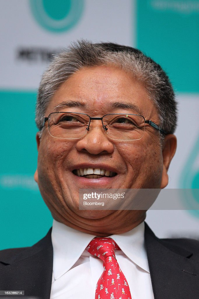Anuar Ahmad, executive vice president of gas and power at Petroliam Nasional Bhd. (Petronas), reacts during a news conference in Kuala Lumpur, Malaysia, on Thursday, March 7, 2013. Petronas, Malaysia's state energy company, defended its 8.8 billion ringgit ($2.8 billion) buyout offer price for MISC Bhd. after criticism from minority shareholders that it's too low. Photographer: Goh Seng Chong/Bloomberg via Getty Images