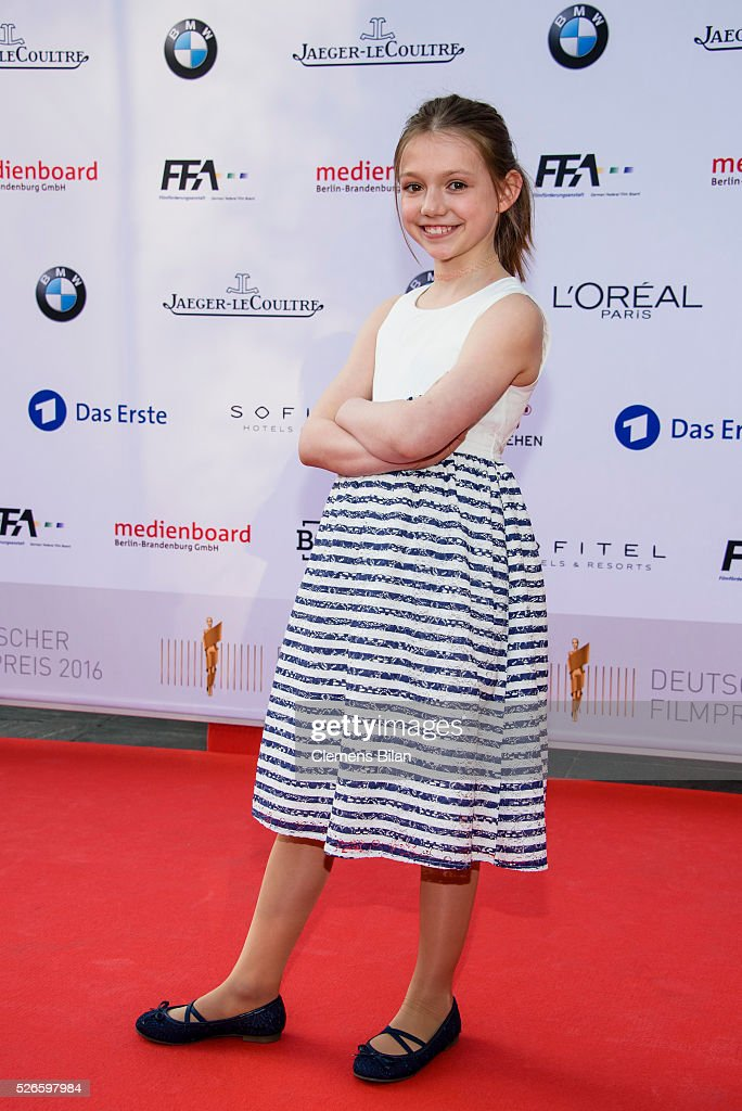 Anuk Steffen attends the nominee dinner for the German Film Award 2015 Lola (Deutscher Filmpreis) on April 30, 2016 in Berlin, Germany.