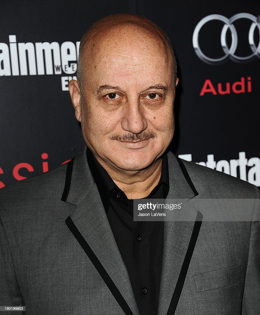 Anupam Kher attends the Entertainment Weekly Screen Actors Guild Awards pre-party at Chateau Marmont on January 26, 2013 in Los Angeles, California.