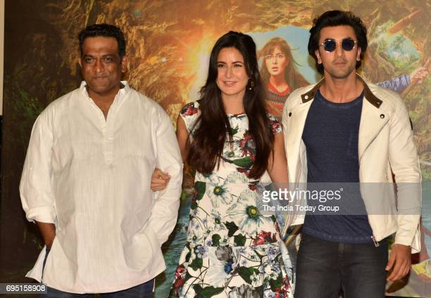 Anurag Basu Katrina Kaif and Ranbir Kapoor during the second song launch of film Jagga Jasoos 'Galti Se Mistake' in Mumbai