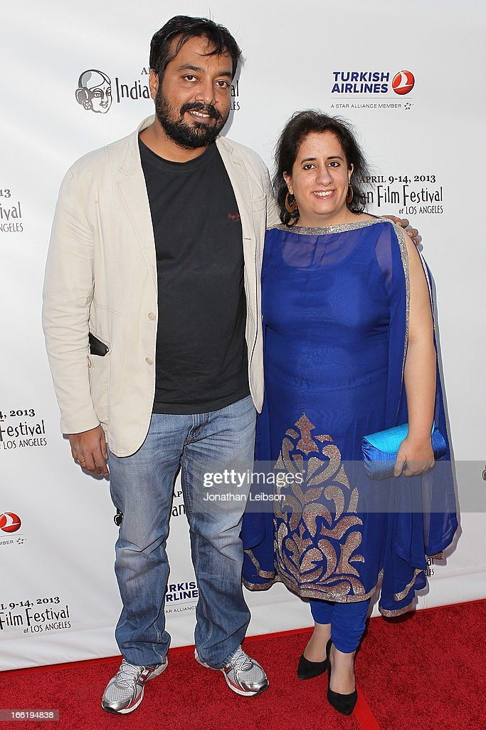 Anurag Kashyap and Guneet Monga attend the 11th Annual Indian Film Festival Of Los Angeles - Opening Night Gala for 'Gangs Of Wasseypur' at ArcLight Hollywood on April 9, 2013 in Hollywood, California.