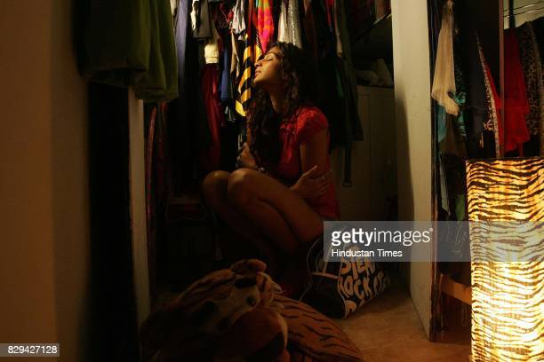 Anushka Manchanda in her wardrobe for Me and My Wardrobe series at her residence in Andheri