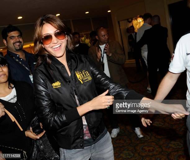 Anushka Sharma arrives for IIFA 2011 on the streets of Toronto on June 22 2011 in Toronto Canada