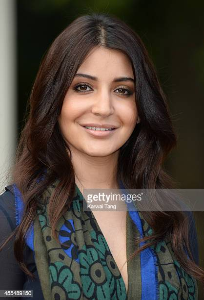 Anushka Sharma attends the Burberry Prorsum show during London Fashion Week Spring Summer 2015 at Kensington Gardens on September 15 2014 in London...