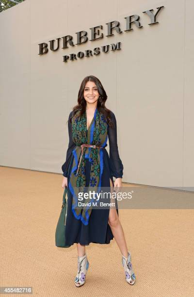 Anushka Sharma attends the Burberry Womenswear SS15 show during London Fashion week at Kensington Gardens on September 15 2014 in London England