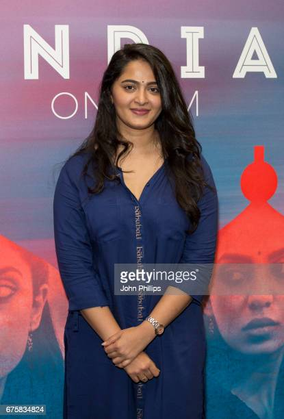 Anushka Shetty attends a photocall for the upcoming release of Baahubali 2 at BFI Southbank on May 2 2017 in London England