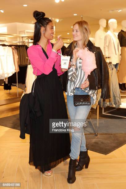 Anuthida Ploypetch and Charlotte Cordes attend the HM X Grazia flagship store opening on March 1 2017 in Hamburg Germany