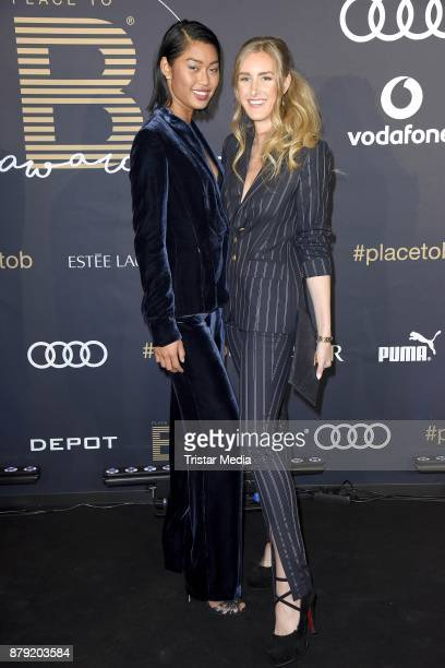 Anuthida Ploypetch and Leslie Huhn attend the Place To B Influencer Award at Axel Springer Haus on November 25 2017 in Berlin Germany