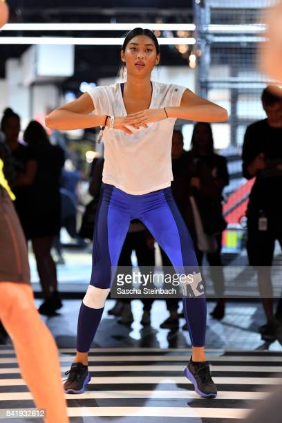 Anuthida Ploypetch attends the Asics night run with Moritz Tellmann during the Bread Butter by Zalando at Arena Hall arena Berlin on September 2 2017...