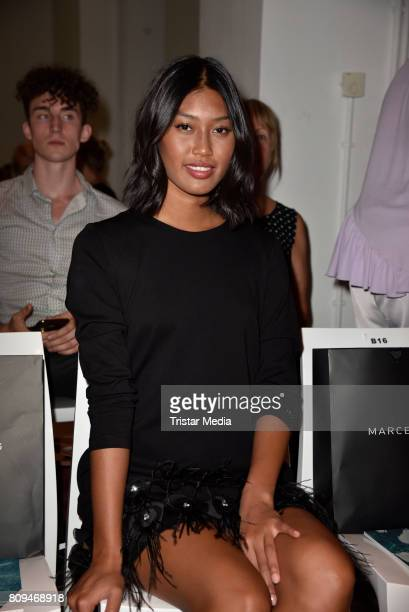 Anuthida Ploypetch attends the Marcel Ostertag show during the MercedesBenz Fashion Week Berlin Spring/Summer 2018 at Delight Studios on July 5 2017...