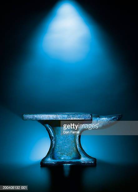 Anvil with blue background