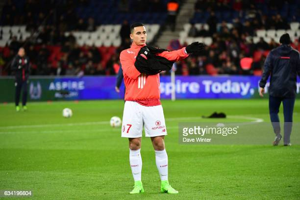 Anwar El Ghazi of Lille before the French Ligue 1 match between Paris Saint Germain and Lille at Parc des Princes on February 7 2017 in Paris France