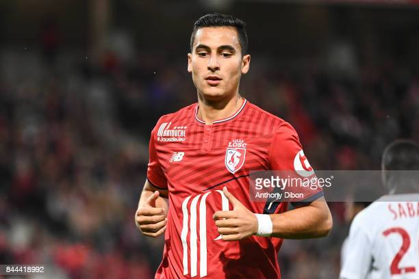 Anwar El Ghazi of Lille during the Ligue 1 match between Lille OSC and FC Girondins de Bordeaux at Stade Pierre Mauroy on September 8 2017 in Lille