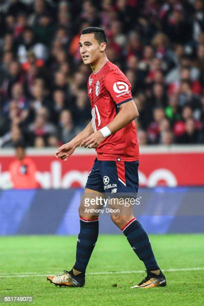 Anwar El Ghazi of Lille looks dejcted during the Ligue 1 match between Lille OSC and AS Monaco at Stade Pierre Mauroy on September 22 2017 in Lille