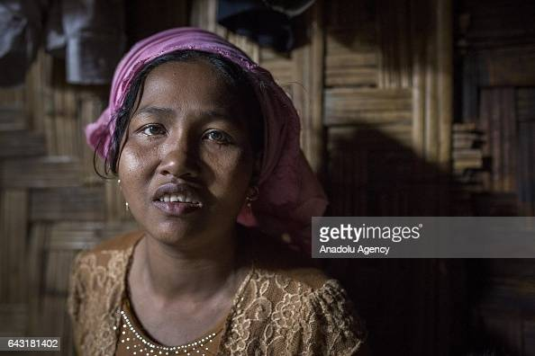 COX'S BAZAR BANGLADESH FEBRUARY 20 Anwara one of the women who were raped by Myanmar armed forces members takes shelter at Leda unregistered Rohingya...