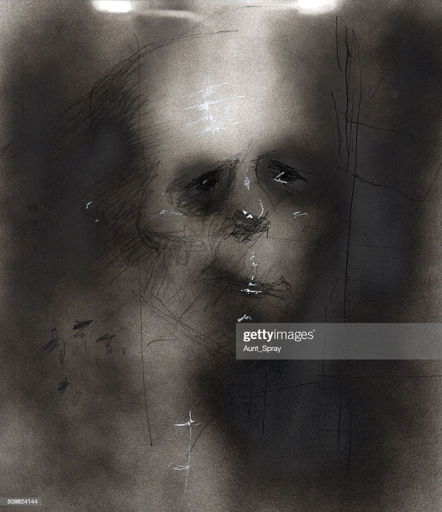Anxiety and Depression Illustration 03 : Stock Photo
