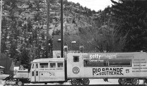 Any Colorado wintertime traveler should pause at of state He'll see famous Galloping Goose that groan Dolores Colo on the Dolores River in southwest...