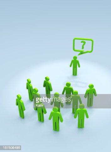 Fragen Personen? : Stock-Foto