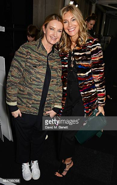 Anya Hindmarch and Kim Hersov attend the Anya Hindmarch AW15 Presentation during London Fashion Week at Old Billingsgate Market on February 24 2015...