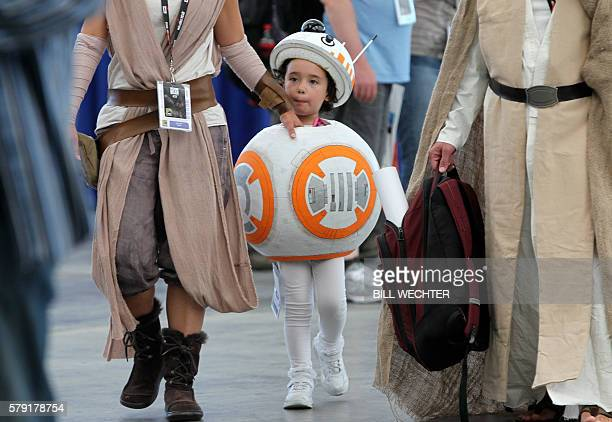 Anya Klam plays the part of BB8 from Star Wars during ComicCon International 2016 in San Diego California July 22 2016 / AFP / Bill Wechter