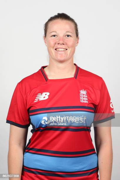 Anya Shrubsole poses during the England women's Test headshots session on October 13 2017 in Brisbane Australia